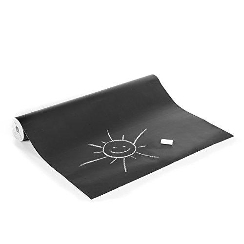 Haga-Wohnideen.de bordfolie zwart voor krijt in 45cm Br. Zelfklevende folie (per meter)