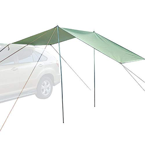 N/I Car Awning, Rooftop Rain Canopy, Sun Sail Shade, Camping Tent Waterproof Auto Canopy Camper Trailer Tent Tailgate Awning Tent Roof Top Camping Outdoor