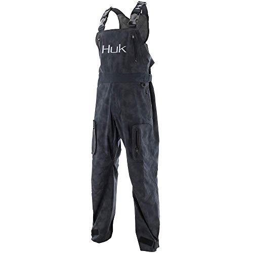 Huk Men's Leviathan Rain Jacket, Black, Small