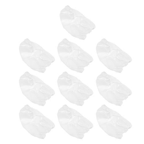HEALLILY 10 Pcs Couverture de Tête Jetable Non Tissé Couverture de Tête Couverture de Visage Jetable Net Bouffant Casquettes pour Hôpital Salon Spa Cuisine Service Alimentaire