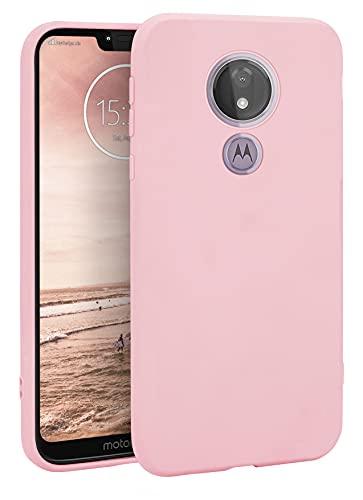 MyGadget Silikon Hülle für Motorola Moto G7 Power - robuste Schutzhülle TPU Hülle Slim - Silikonhülle Back Cover - Ultra Kratzfest Handyhülle - Matt Rosa