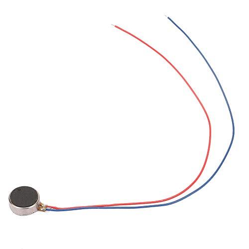 Motor de cepillo de corriente continua, motor compacto de vibración de teléfono 2,3 ~ 4,0 V CC de hierro y plástico de 3 V.