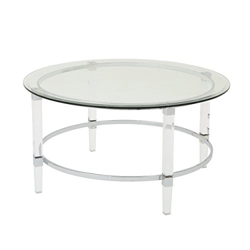 Christopher Knight Home Elowen Modern Round Tempered Glass Coffee Table