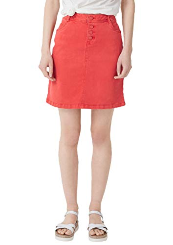 s.Oliver RED Label Damen Stretchrock aus Struktur-Twill Brick red Denim Stretch 46