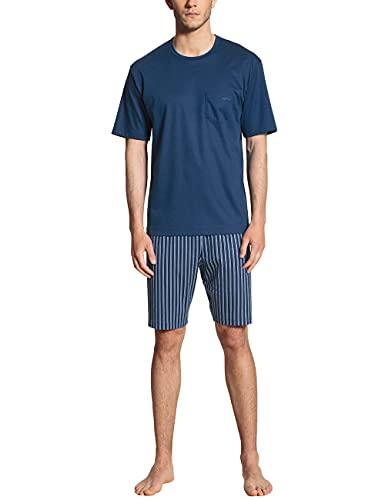 CALIDA Herren Relax Streamline kurz Pyjamaset, Pottery Blue, 50