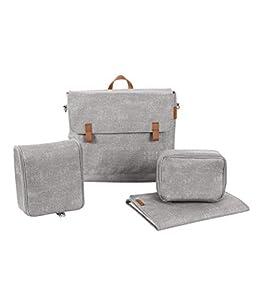 Maxi-Cosi Modern Bag Bolso de cambiador para bebés, cambiador portátil includido y borsa termica para la corrida y bebida del bebé, color nomad grey