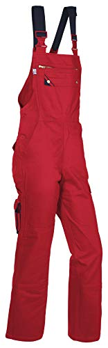 Latzhose rot STAR 100% BW, Größe: 042 - LH-RO-042 42,Rot