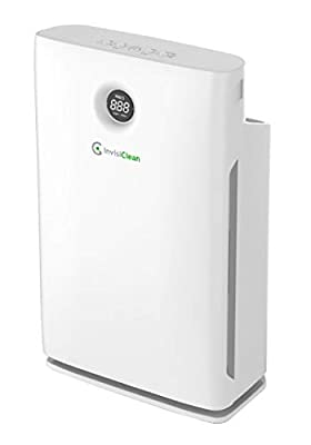 InvisiClean Claro Air Purifier - 4 in 1 True HEPA, Ionizer, Carbon + UV-C Sanitizer - Air Purifier for Allergies & Pets, Home, Large Rooms, Smokers, Dust, Mold, Allergens, Odor Elimination - IC-4524