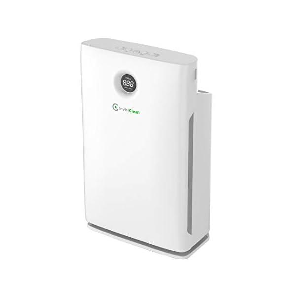 InvisiClean Claro Air Purifier – 4 in 1 True HEPA, Ionizer, Carbon + UV-C Sanitizer...