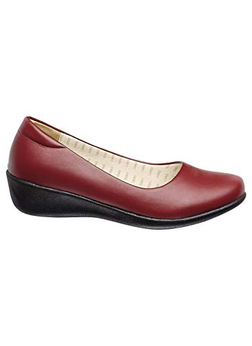 Comfort Flat, Color Red, Size 9 (Medium), Red, Size 9 (Medium)