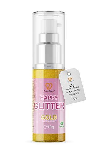 GoodBake Happy Glitter Gold Glitzerpuder Glitzerstaub essbarer Glitzer