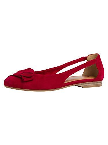 Tamaris 1-1-22106-24, Women's Ballet Flats, Red Ruby 544, 4 UK (37 EU)
