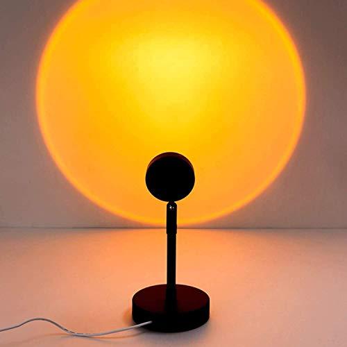 Lámpara de proyección de la puesta de sol Rainbow Rotación de 90 grados, la proyección de la puesta de sol LED, la lámpara de iluminación del piso del estado de ánimo visual romántico (puesta de sol)