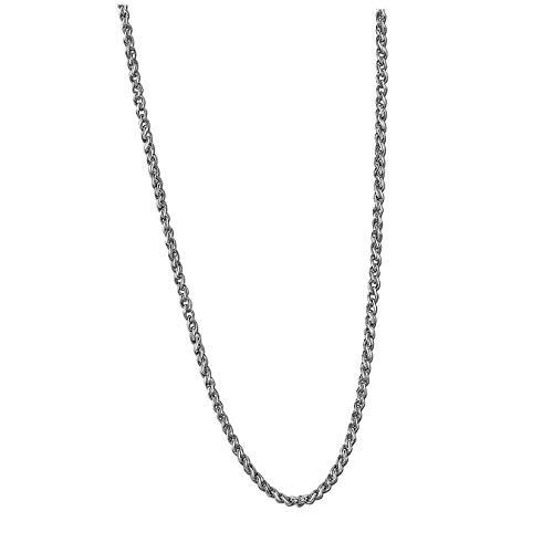 Lotus Style Collar modelo LS1682-1/2 de la colección Men In Black en acero para caballero