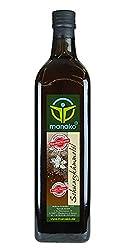manako black cumin oil human, cold pressed, 100% pure, 1000 ml glass bottle (1 x 1 l)