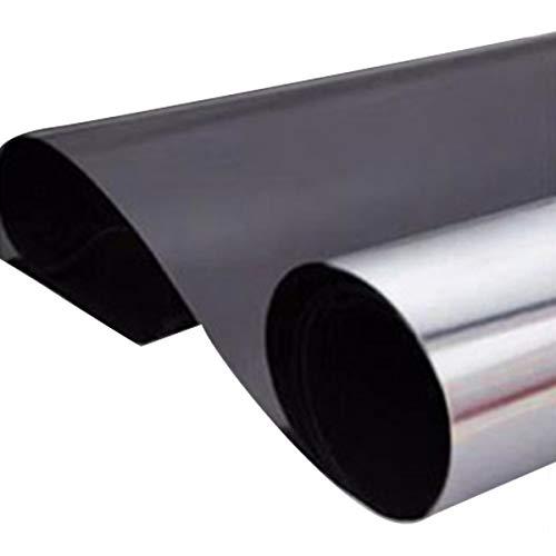Greatangle Fensterwärmeisolierung Datenschutzfolie Transparenter UV-Infrarot-Hautschutz verhindert das Ausbleichen von Möbeln Fensterfolie Schwarz Silber 60CMx100CM