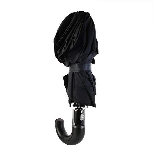 Entre Temps PL366 Parapluie Ouverture et Fermeture Automatique, Textile-Polyester, Noir