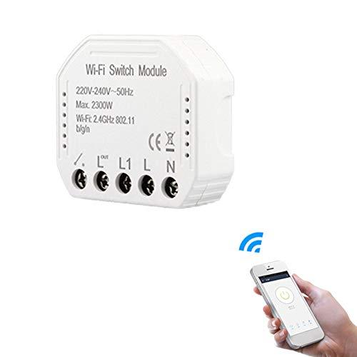 Interruptores de luz inteligentes Diy Breaker MóDulo Smart Life/Tuya App Control Remoto, Funciona con Alexa Echo -Home (1C switch)