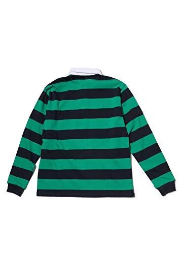 『SPINNS ボーダーラガーシャツ マスタード -』の1枚目の画像