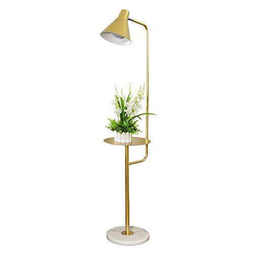 Lampes de chevet Lampadaire Salon Canapé Chambre Américain Minimaliste Table Basse Créative Lampe De Table Verticale (Color : Gold, Size : 28 * 148cm)