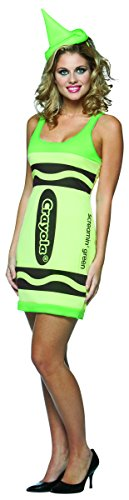 Rasta Imposta Crayola Tank Dress Costume, Screamin Green, Adult 4-10