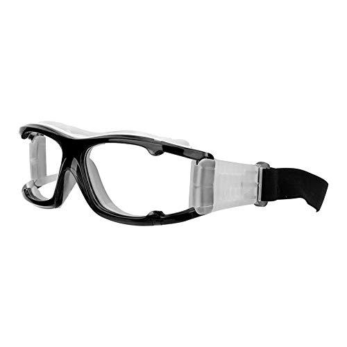 Nunafey Sportbrille, Rahmen für Basketball-Trainingsbrillen, Verstellbarer Kopfgurt, Verschleißschutz für Sandrennen im Freien Radfahren Bergsteigen Outdoor-Abenteuer(Black)