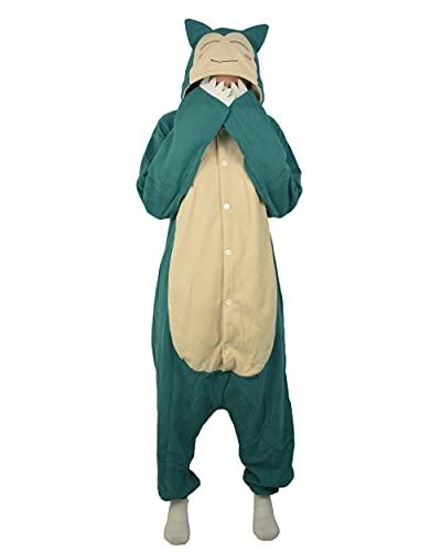 LorranTree Relaxo Costume da tutina per costume da Snorlax Onesie Relax, da donna e da uomo, per carnevale, Halloween e cosplay, per adulti, per carnevale, blu 02 L