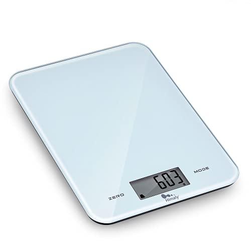 Bilancia da Cucina, 10Kg/1g Bilancia Elettronica Digitale Alta Precisione Misurazione Display LED Multifunzione da Cucina e Acciaio Inossidabile Usato Come Sveglia