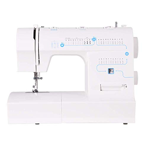 Find Bargain CWH&WEN Electric Household Sewing Machine with 33 Built-in Stitch Patterns,Double Thread Adjustable Speed Replaceable Foot with Pedal LED Light
