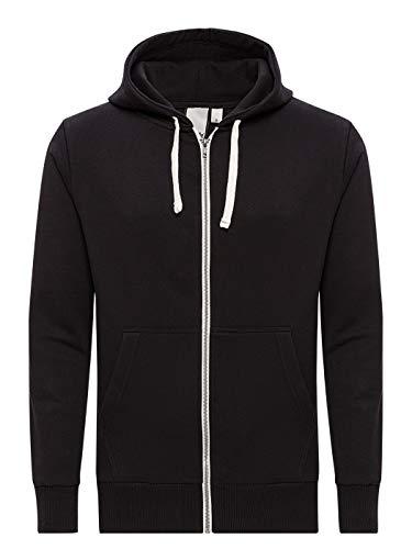 Yazubi Sweatshirtjacke Kapuzen Pullover Herren Schwarz Oversized Hoodie Männer Jacke Unisex Hoody Zipper Helix, (Black 2R194008), 6XL