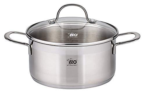 ELO Platin Stainless Steel Kitchen Induction Casserole Pot 1.5 Quart