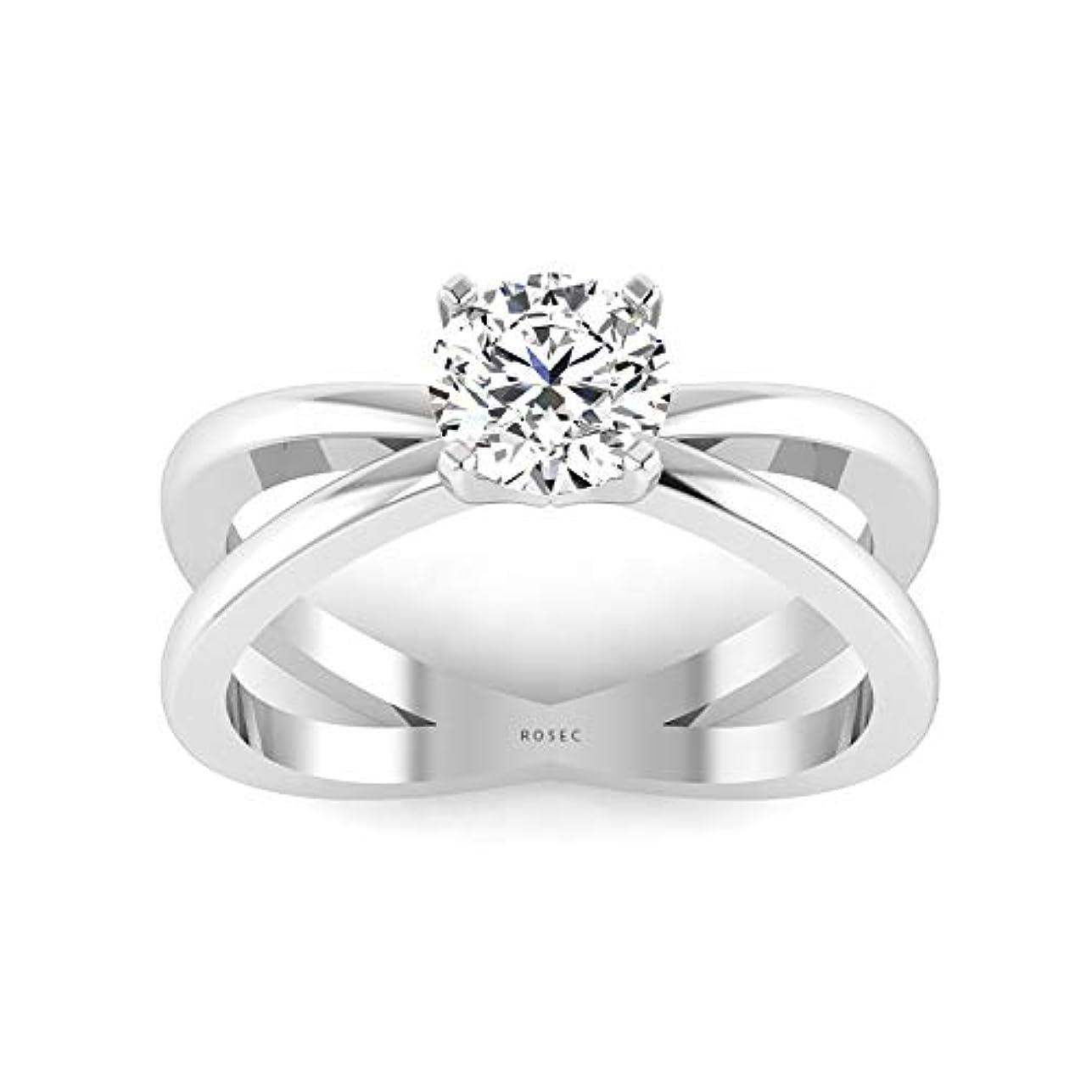 インチテラス音楽を聴くDainty 0.34 CT IGI認定ダイヤモンドソリテール婚約指輪スプリントシャンク女性用結婚記念日指輪ダイヤモンドブライダルプロミス指輪母の日, 10K ホワイトゴールド, Size: 26