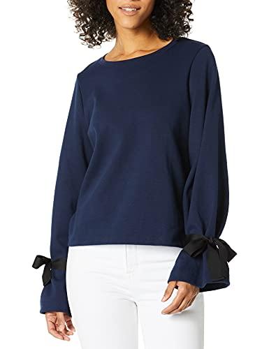 J.Crew Mercantile Women's Sweatshirt with Tie Sleeve, Navy, XXL