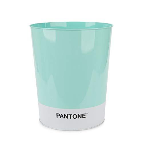 Balvi Papelera Pantone Color tuquesa Cubo de Reciclaje para la Oficina y el hogar Producto de papelería de diseño Moderno y Minimalista Lata 26x22x22 cm