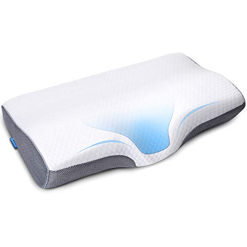 Memory Foam Cervical Pillow for Neck Shoulder Pain Relief Orthopedic Contour Pillow for Sleeping Ergonomic Bed Pillow for Side Sleeper, Back, Stomach Sleeper with Washable Pillowcase Hypoallergenic