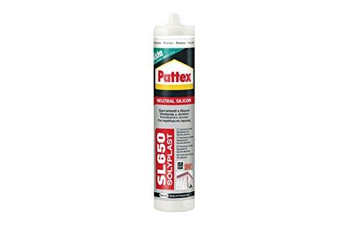 Pattex SL650, silicona neutra para ventanas y juntas, color transparente, 300 ml