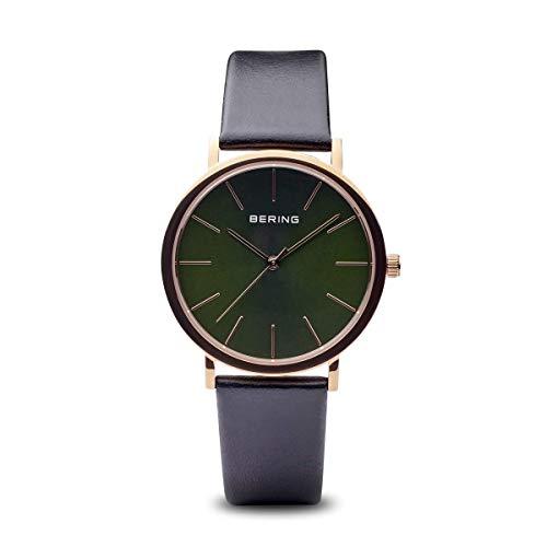 BERING Herren Analog Quarz Uhr mit Leder Armband 13436-469