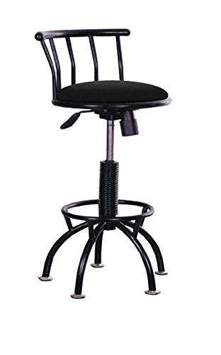 Awesome 1 Black Metal Finish Swivel Barstool With Black Cushion Gmtry Best Dining Table And Chair Ideas Images Gmtryco