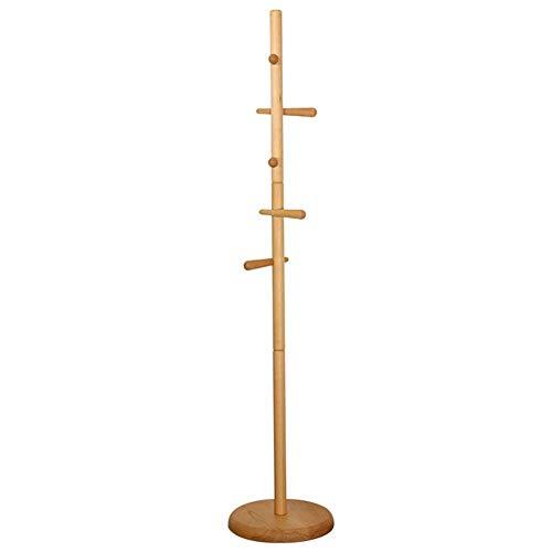 POETRY Jas Boom Stand Houten Kleren Hanger Paraplu Houder en Hoed Organizer Geweldig voor Entryway Woonkamer Slaapkamer (Kleur: Natuurlijke Kleur)
