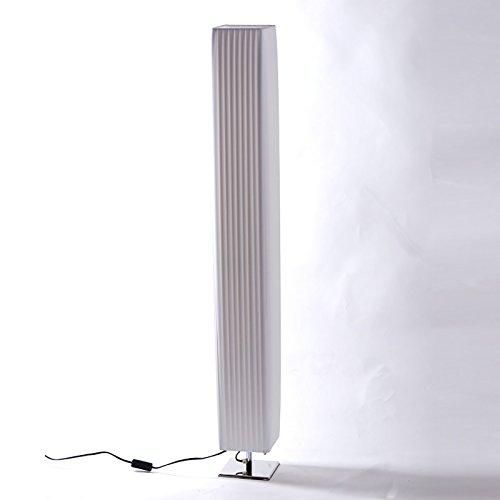 Design STEHLAMPE Plissee | weiß, 120 cm, Metall, Plissee | edle Wohnzimmerlampe, Bodenlampe, Lounge Standleuchte
