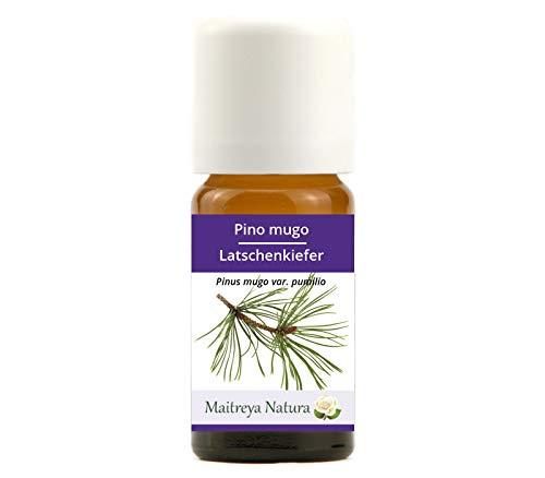 Maitreya Natura Olio Essenziale biologico PINO MUGO, 100% puro e naturale, 10ml - aromaterapia, diffusore, massaggio, cosmetica - qualità controllata e certificata, vegan