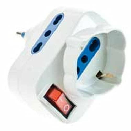 Lafayette ROTATOR 3 rotativos adaptador 3 tomas de corriente con interruptor
