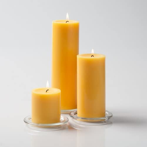 Richland Black Pillar Candles Set of 3