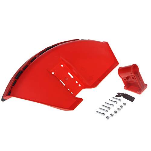 JOYKK CG520 430 Desbrozadora Cubierta Protectora para Hierba Recortadora 26mm Protector de Hoja con Hoja - Rojo