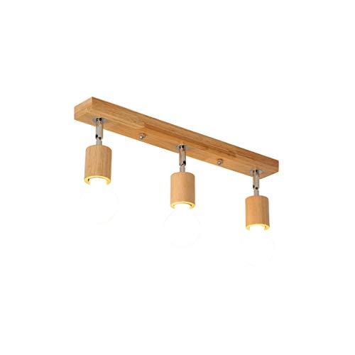 Jydqm moderna madera metal lámpara de techo LED café bar tienda restaurante decoración TV fondo iluminación accesorio