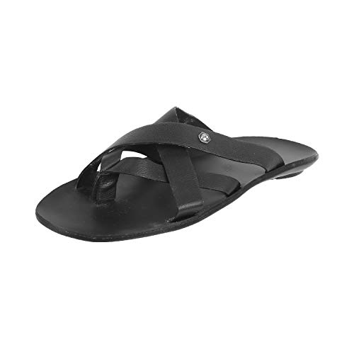 Mochi Black Slippers - 8 UK (42 EU) (16-92)