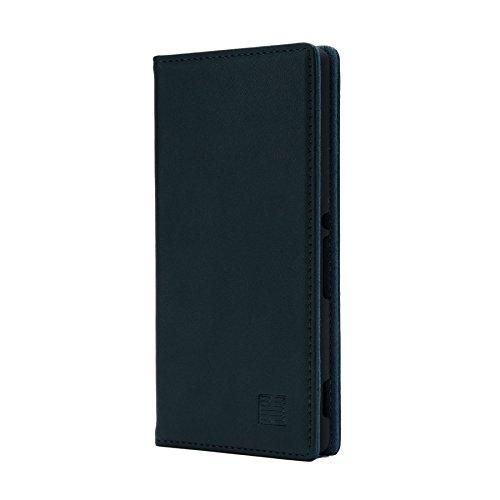32nd Klassische Series - Lederhülle Case Cover für Sony Xperia M4 Aqua, Echtleder Hülle Entwurf gemacht Mit Kartensteckplatz, Magnetisch & Standfuß - Jägergrün