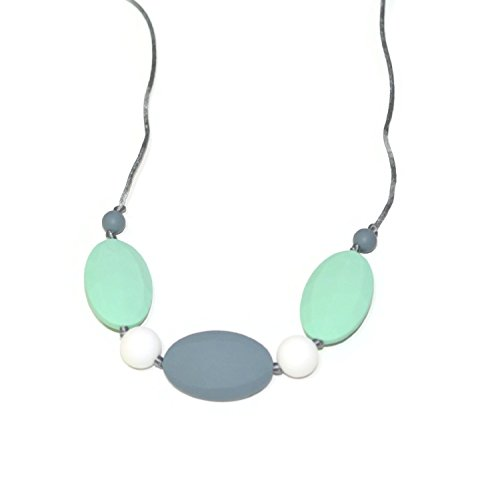 For Sale! QBebe Silicone Teething Necklace for Babies - 100%BPA Free (Mint+Smoke+Snow)