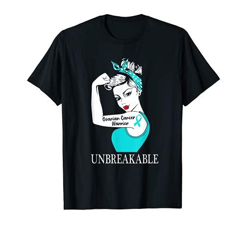 Guerrero del cáncer de ovario Irrompible Mujeres fuertes Camiseta