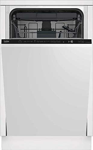 Beko DIS48125 vollintegrierbarer Geschirrspüler/ 11 Maßgedecke/ 6 Temperaturen/herausn. Besteckschublade/AquaIntense-Sprüharm/Lichthinweis am Boden, Weiß